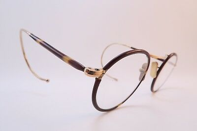 Vintage 20s celluloid off round eyeglasses frames coil arms made in England