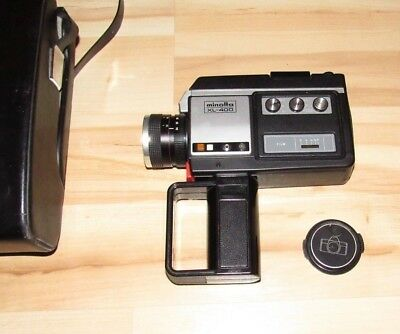 Minolta XL-400 Super 8 Film Video Camera AS-IS Untested Vintage Leather Case