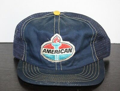 VINTAGE AMERICAN GAS STATION Trucker Hat  AMERICAN PATCH Oil Rare Mesh Snapback