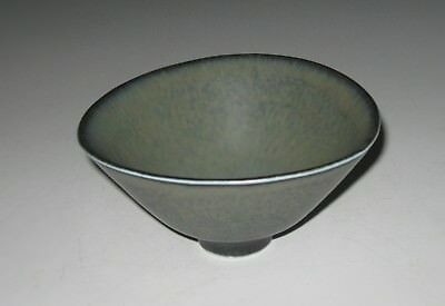 SWEDISH MID CENTURY MODERN POTTERY GREY BOWL by  C.H.STALHANE for RORSTRAND