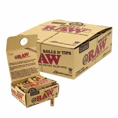 RAW Masterpiece King Size - 1 PACK - 30 PreRolled Tips & 3 Meter Roll Per Pack
