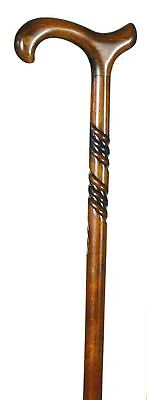 Ladies Wooden Beech Spiral Derby Walking Stick from Classic Canes