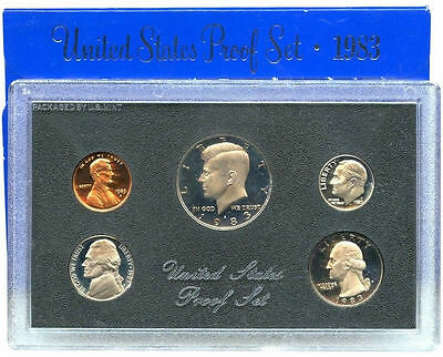 1983 S US Mint Proof Coin Set