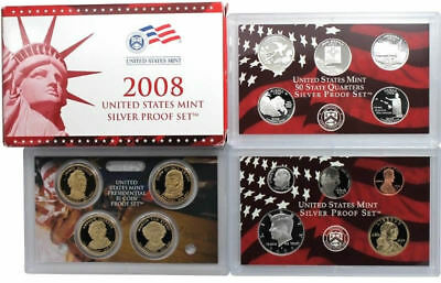 2008 S US Mint Silver Proof 14 Coin Set