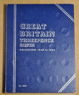 1838 to 1901 Great Britain Threepence Silver Whitman Coin Album - 48 Coins #