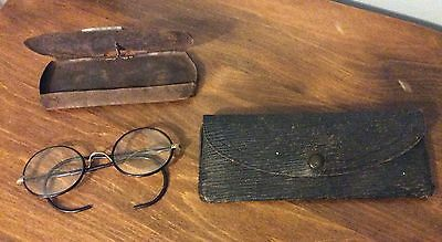 Antique BiFocal Glasses - GF Shur-On - 12K 1/10 Spectacles - With Two Cases