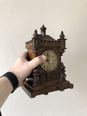 Antique Striking Junghans Bracket / Mantle Clock Vienna Style,Unusual Small Size