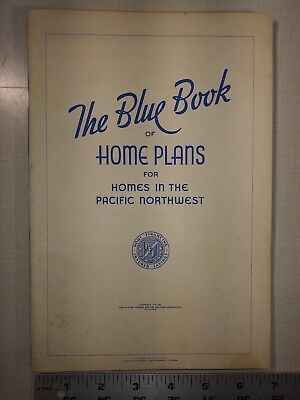Blue Book of Home Plans for Pacific Northwest - 1937 - House Plans Architecture
