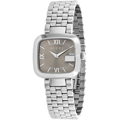 9fa3740215d Gucci Women s G-Gucci Quartz 30m Stainless Steel Silver Tone Watch YA125413