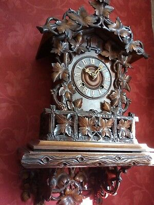 antique fusee bracket ghs cuckoo clock