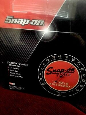 Snap-on Tools THERMOMETER Vintage Retro Style Collectible Metal Glass SSX15P117