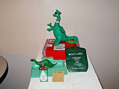 1960's SINCLAIR OIL COLLECTIBLE LOT *Dino Dinosaur*Dust Pan*Bank*Pouch*Oil Can*