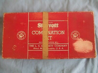 Vintage Starrett 434-12-4R 12-Inch Combo Set w/Forged & Hardened Steel Square