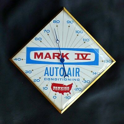 Vtg 1950's Mark Iv Auto Air Conditioning Bubble Glass Pam Thermometer Gas Oil