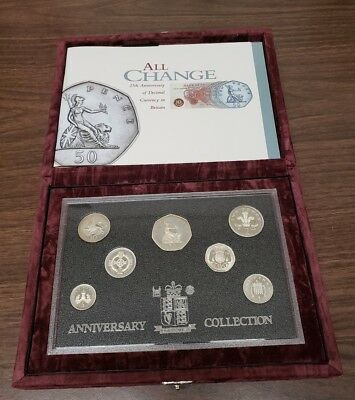 Great Britain 1996 25th Anniversary of Royal Mint Proof Collection Coins
