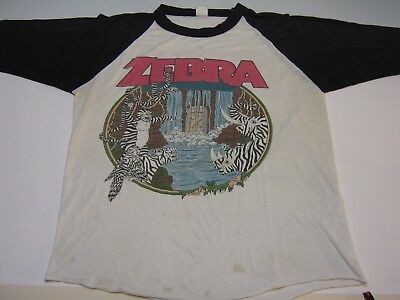 "Vintage Zebra Jersey ""who's Behind The Tour"" 83"", Thin, Faded, Rare"