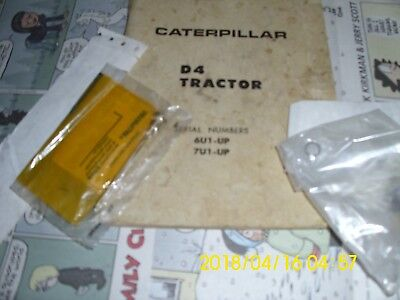 Caterpillar D4 Needle Valve Screw Starting Motor, with old manual  5F-7640 jet A