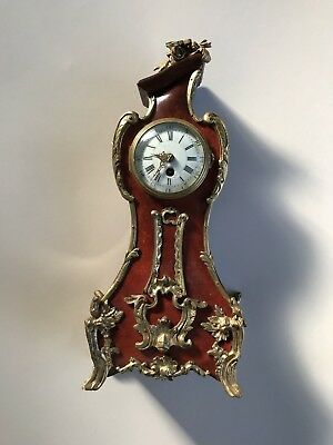 Exquisite  French Rococo / Late Baroque Mantel Clock with Brass & Ormolu Mounts