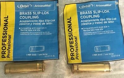 Heavy Duty!! 3 PACK Orbit ArizonaMist 92420L Brass Slip-Lok End Plug