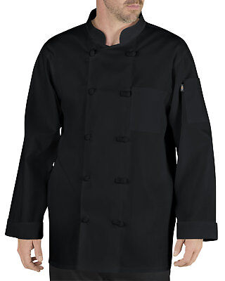 Dickies Chef Classic Long Sleeve Chef Coat with Cloth Knott Buttons DC-DMP109