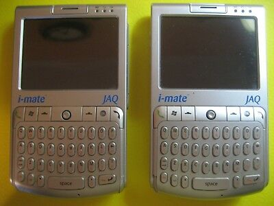 LOT of 2 Vintage GSM i-mate JAQ - Silver - UNTESTED