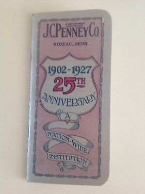 Vintage J.C. Penney Co. 1902-1927 25th Anniversary Pocket Book from Roseau, Minn