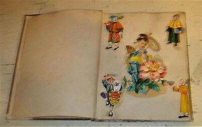 Colorful Antique Victorian Scrapbook with Trade Cards