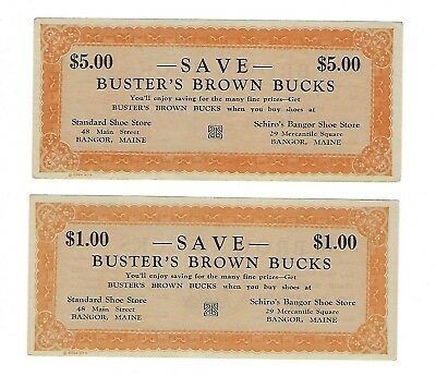 Bangor Maine Scrip/Buster Brown Shoes Set of 2