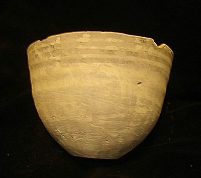 Unique! Ancient Painted Bowl Fern Painting-Very Rare Design!  3000Bc