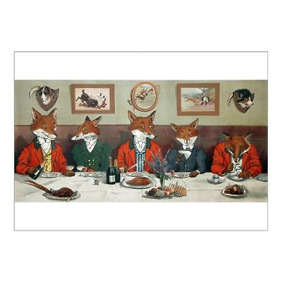 4370238 A1 (84x59cm) Poster of Mr Foxs Hunt Breakfast on Christmas Day