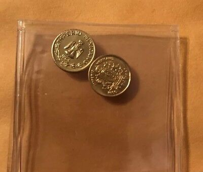 1865-B  Gold Coin Maximiliano  & Carlota ( 10mm/ 0.5 Grams ) Very Hard To Find