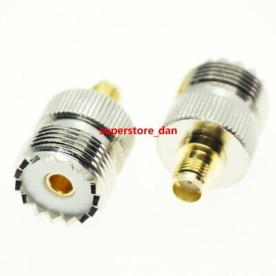 UHF female SO239 SO-239 Jack to SMA Female RF adapter connector PL259