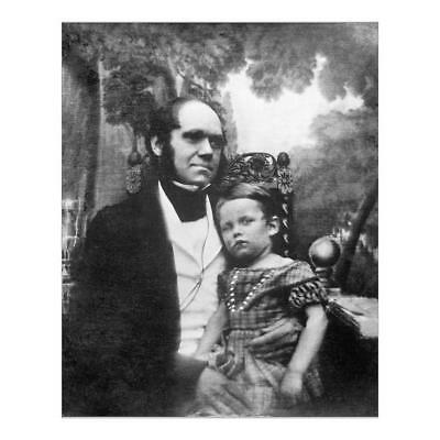 """10""""x8"""" (25x20cm) Print of Charles Darwin and his son N990002 from"""