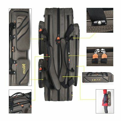 3 Layers Folding Fishing Rod Carrier Reel Case Bags Fish Pole Tools Storage Bags