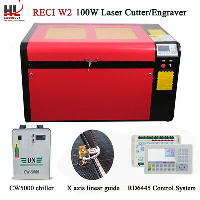 100W CO2 USB Port Laser Engraver Cut & Auto Focus CW5000 Chiller 390MM Lift