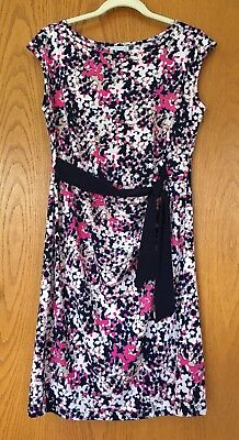 Pea in the Pod maternity dress size Medium, sleeveless navy pink summer side tie