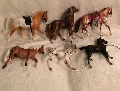 Vintage Lot Of 6 Mostly Breyer Or Maybe All Breyer Not Sure See Pics