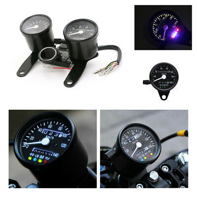 Motorcycle Odometer Speedometer Tachometer Gauge For Chopper Bobber Cafe Racer