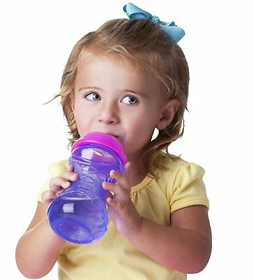 2 Pack Leak Proof Soft Spout Sippy Cup Baby Toddler Drink Trainer No Spill 10 Oz