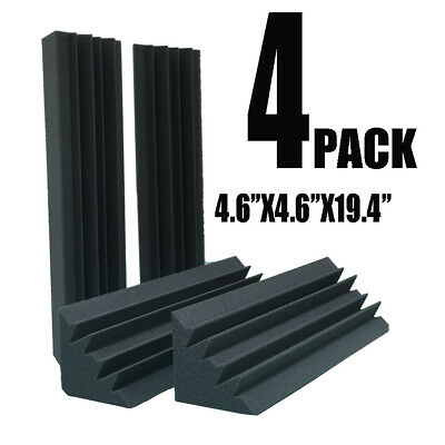 "4pcs 4.7 x 4.7 x 18.8""Corner Bass Trap Studio Soundproofing Sound-Absorbing Foam"