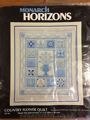 Sculptured Stitchery KIT by MONARCH HORIZONS:  Country Flower Quilt - KIT CR90
