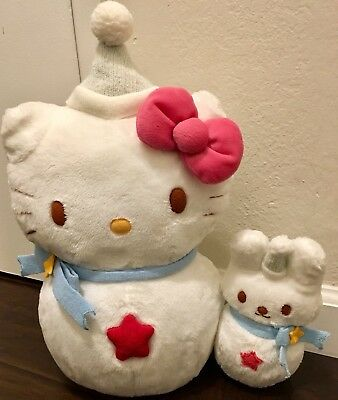 Hello Kitty Winter Wonderland Snowman Plush