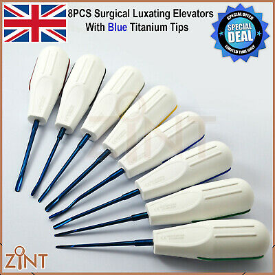 X8 Luxating Root Elevators Oral Surgery Tooth Extracting Loosening Luxation Set