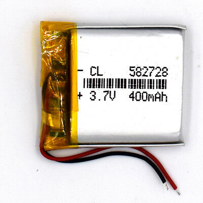 3.7 V 400mAh 582728 LiPolymer Rechargeable Battery Li Po Cell for GPS Bluetooth