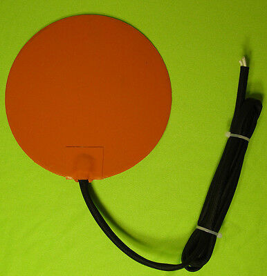 85 Watt 12 V Volt Round Silicone Pad Heater WVO Vegetable Oil Diesel Fuel Tank