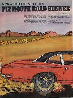 1969 Plymouth Road Runner Motortrend car of the year ad