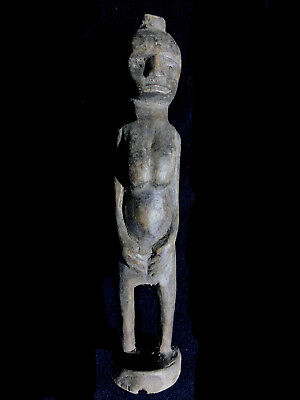 Old Female wooden Charm figure Moluccas Indonesia