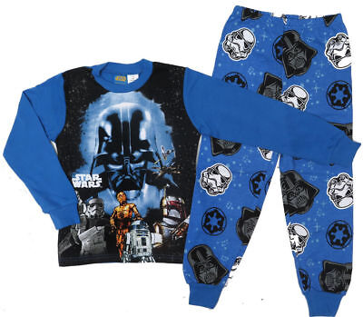 NEW 100% Cotton Winter Pyjamas Boy Sleepwear - Star Wars Size 6,7,8,10,12
