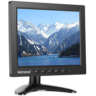 """Neewer NW801H 4:3 TFT-LCD Screen 8"""" Monitor for DSLR, PC, CCTV Camera Black"""