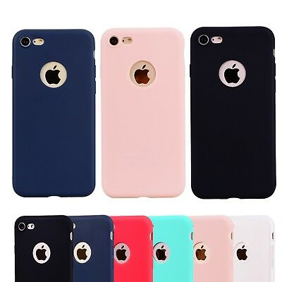 Candy Colors Silicone Rubber Phone Back Case Cover For iPhone 5 6s 7 8 Plus SE
